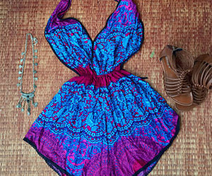 backless dress, etsy, and romper image