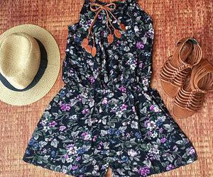beachwear, boho chic, and pom pom playsuit image