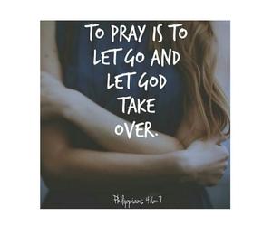 god and pray image