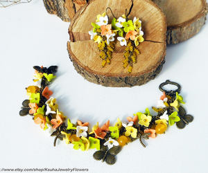 butterflies, beaded earrings, and jewelry image
