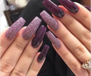 nail art, purple, and style image