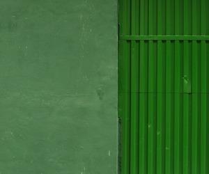 door, green, and wall image