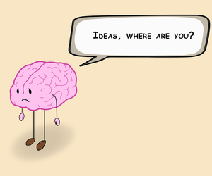brain, cartoon, and creativity image