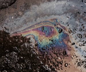 aesthetic, colorfull, and oil spill image