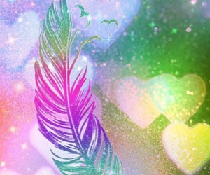 Bird feather, birds, and colors image