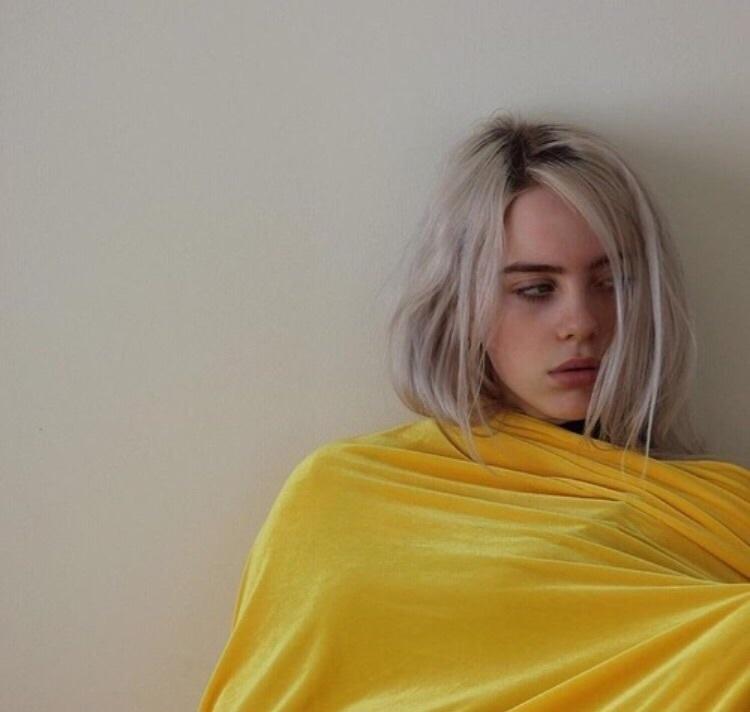 billie eilish, girl, and yellow image
