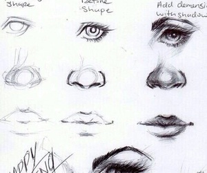 draw, nose, and eye image