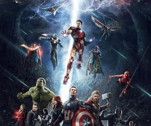 Marvel, infinity war, and Avengers image