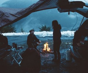 camp, cold, and winter image