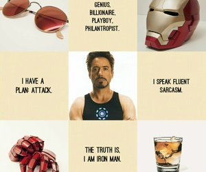 aesthetic, gold, and iron man image