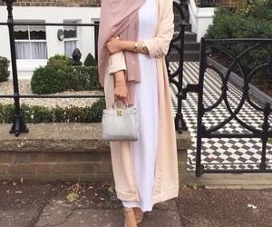 hijab, abaya, and feet image