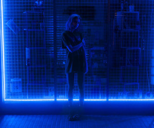 blue, girl, and light image