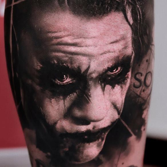 Realistic Joker Tattoo By Noire Ink On We Heart It