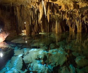 cave, water, and explore image
