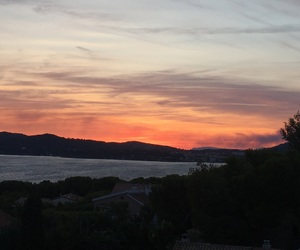 couchédesoleil, cielrose, and mer image