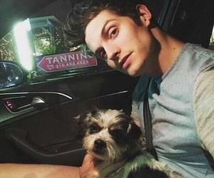 daniel sharman, teen wolf, and dog image