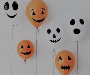 Halloween, balloons, and orange image