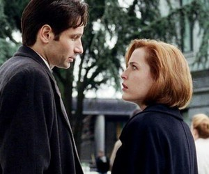 dana scully, fox, and fox mulder image