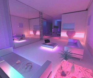 pink, neon, and room image