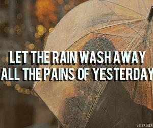 beautiful, heart, and rain image