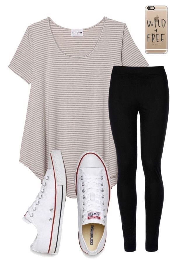 clothes, converse, and leggings image