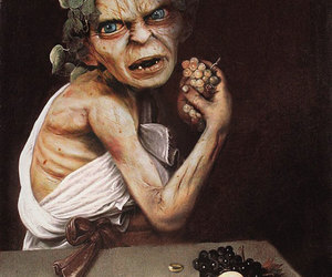 funny, painting, and gollum image