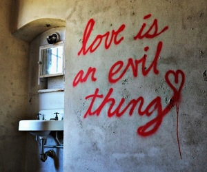 love, evil, and quotes image