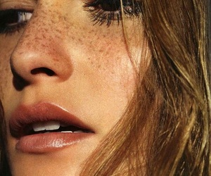 girl, freckles, and model image