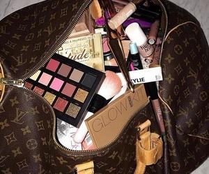 makeup, bag, and beauty image