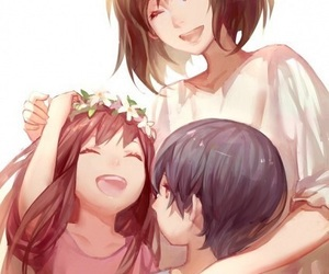 anime, wolf children, and ame image