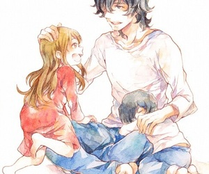 family, wolf children, and anime image