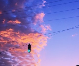 purple, aesthetic, and clouds image