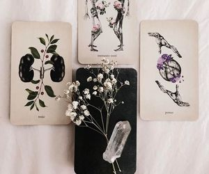 crystals, flower, and wicca image
