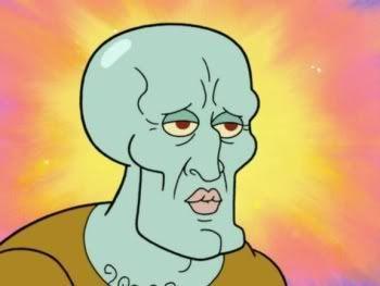 squidward, spongebob, and handsome image