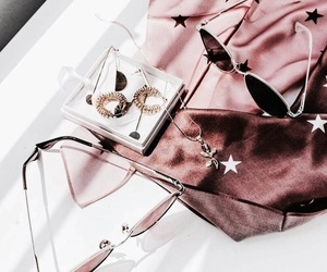rose gold, pink, and sunglasses image