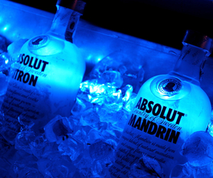 absolut, blue, and vodka image