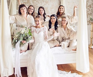 beauty, girls, and bride image