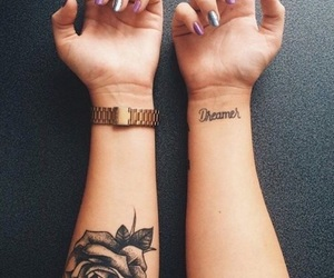 tattoo, rose, and dreamer image