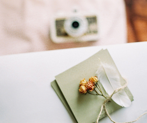 flowers, vintage, and camera image
