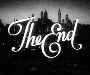 the end, black and white, and movie image