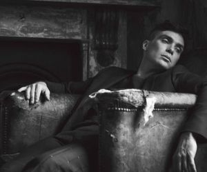 cillian murphy, black and white, and peaky blinders image