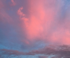 blue, sunset, and pink image
