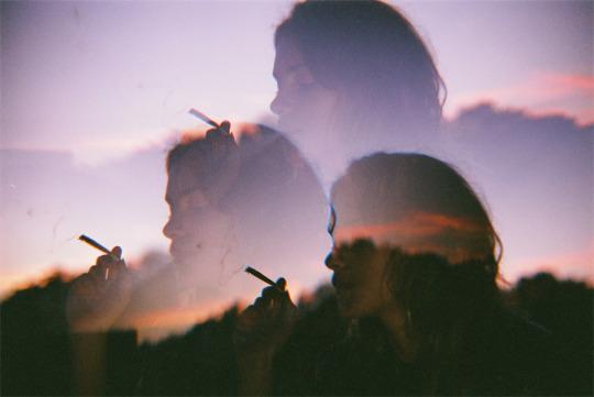 girl, grunge, and smoke image