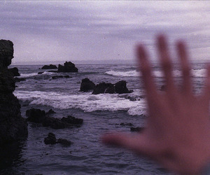 hand, sea, and ocean image