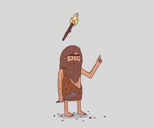 caveman, cavemen, and illustration image