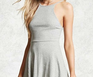 dress, forever 21, and gray image