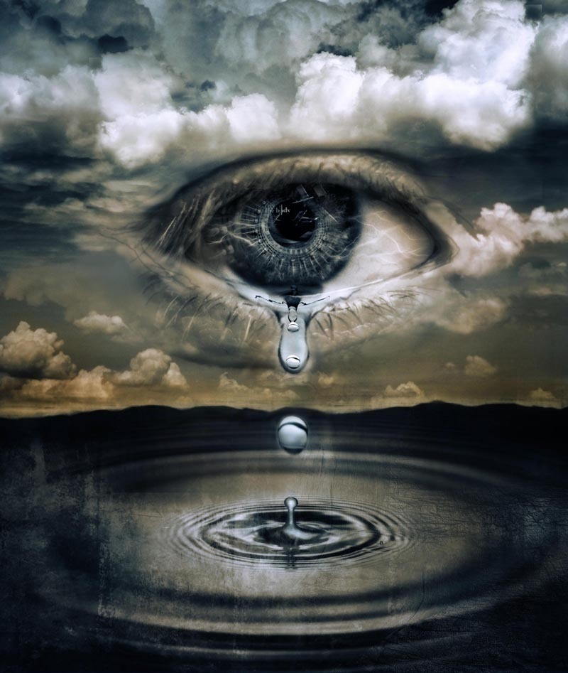 eye, tears, and water image
