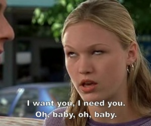 10 things i hate about you, 90s, and Julia Stiles image