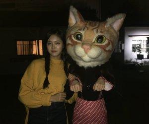 hyunjin, loona, and cat image