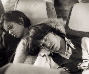 bianca jagger, mick jagger, and couple image